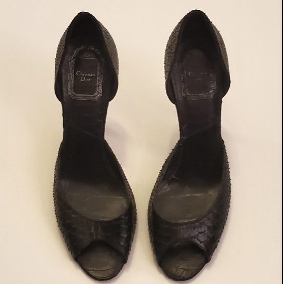 Christian Dior Peep-toe heels